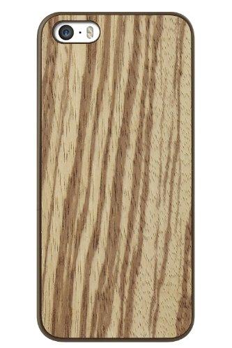dles Hülle mit Holzlook Rückseite für Apple iPhone 5/5S/SE Zebrano/Zingana ()