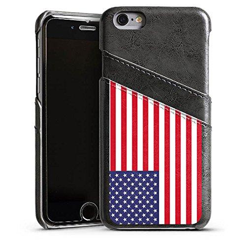 Apple iPhone 5s Housse Étui Protection Coque Amérique États-Unis Drapeau Ballon de football Étui en cuir gris