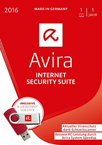 Avira Internet Security Suite 2016 (1 Gerät) - Inklusive 16GB Intenso USB-Stick