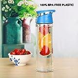Botella Nueva Vida mejor fruta Infusor botella de agua 24ouncethree Color Opción disfrutar de una natural y saludable Fruit Flavored potable