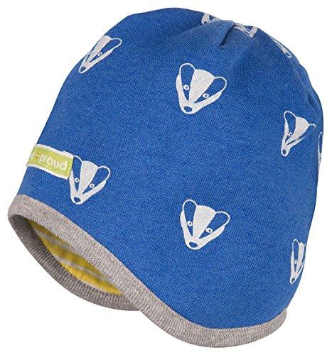 loud + proud Unisex Baby Wendemütze Woll-Anteil-7017 Mütze, Blau (Pacific Pa), 37/39 (Herstellergröße: 62/68)