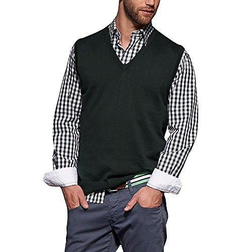 Klassischer Herren Baumwoll-Pullunder Black