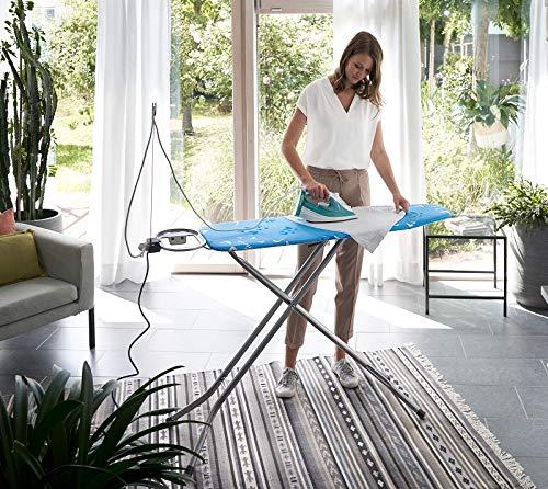 Vileda Viva Express Eco Bügeltisch blau – 120×38 cm große, dampfdurchlässige Bügelfläche – Anti-Rutsch-Füße für mehr Halt auf glatten Böden - 3