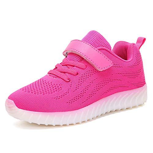 Bybetty bambini unisex low top led scarpe luminosi sneakers usb carica lampeggiante per bambini e ragazzi