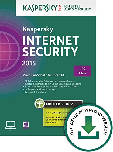 Kaspersky Internet Security 2015 - 1 PC + Android Security [Download]