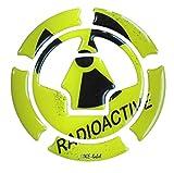 Tankdeckel-Pad 3D 640002 Pad Radioactive Yellow - universeller Tank-Schutz passend für Kawasaki Tanks