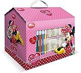 Ein Kunst-Set in dem Koffer-Haus mit dem Minnie-Maus-Motiv, von Multiprint