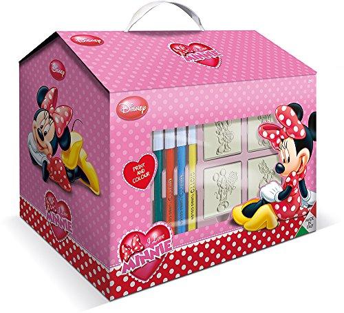 EIN Kunst-Set in dem Koffer-Haus mit dem Minnie-Maus-Motiv, von Multiprint -