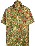 LA LEELA Vacances Chemise hawaïenne Hommes Travail cerf fête décontractée Aloha...