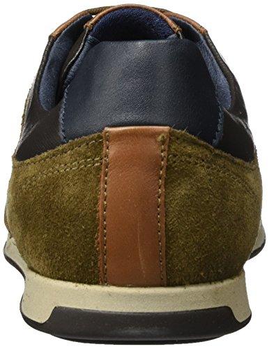 Geox U Clemet B, Scarpe da Ginnastica Basse Uomo Marrone (Browncotto/brown)