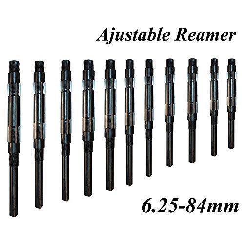 W-Nuanjun-wj 1 STÜCK 6,25-84 mm Einstellbare Handreibahle HSS-Größenbereich Schneidwerkzeuge 6 8 10 12 15 20 25 30 35 40 45 50 55 60 65 70 75 80 84 mm (Head Diameter : 44 54)