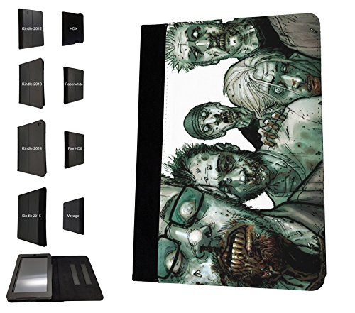 1767 - Scary Walking Dead Zombie Field People Zombies Blood Gore Design Amazon Kindle Paperwhite 6'' 2014/2016 Fashion Trend TPU Leder Brieftasche Hülle Flip Cover Book Wallet Stand halter Case