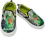 """Canvas Schuhe / Sneaker - Größe 30 - """" Arlo & Spot - Dinosaurier """" - incl. Name - mit Profilsohle - Sportschuhe & Turnschuhe / Leinenschuhe - rutschfeste Schuhe Schuh / für Kinder - Jungen & Mädchen / Hausschuhe Gartenschuhe - Sneakers - Stoffschuhe - Textilschuhe - Dino - """" the good Dinosaur """" - Urzeit Saurier / Butch - Apatosaurus / Gymnastikschuhe / Halbschuhe - Hallenschuhe - Leinen Dinos"""