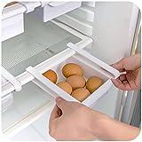 2er Set Aufbewahrungsbox Kühlschrankbox Schublade Aufbewahrungskiste Weiß