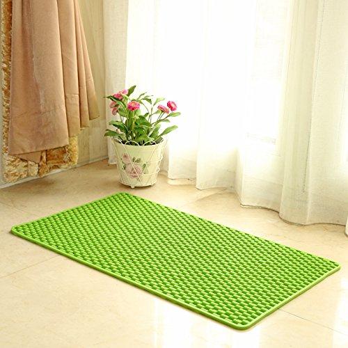 Lx.AZ.Kx Fußmatten Die Bäder sind Scheuerschwämme WC Dusche PVC waterproofFeet, Apple Green, 47cm * 79cm