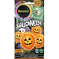 Pumpkin iLLoom Halloween Balloon - Fixed LED Light Up Balloons - 5pk - AS SEEN ON BBC DRAGONS DEN
