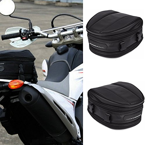 /sella borsa da sella per moto, impermeabile sedile posteriore Carry bagagli borsa da sella bici portapacchi posteriore bisaccia nero, nero