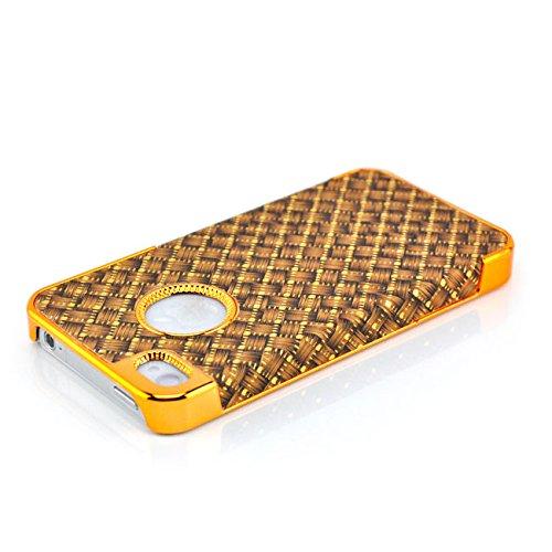 Saxonia Apple iPhone SE 5 5S Hülle Case Back Cover Schutzhülle Silber Glitzer Braun