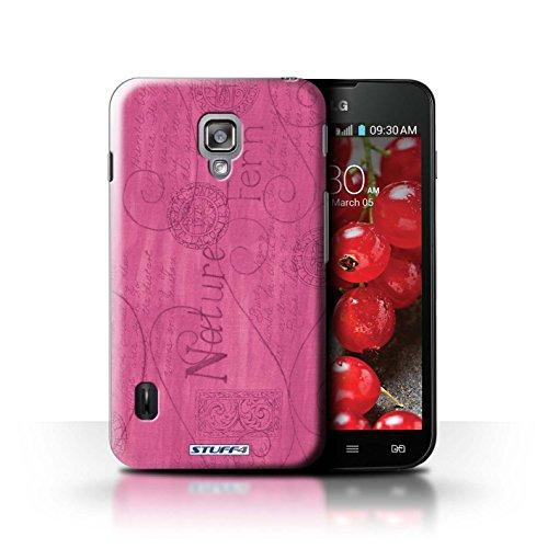 Kobalt® Imprimé Etui / Coque pour LG Optimus L7 II Dual / Violet / Orange conception / Série Motif Nature Rose