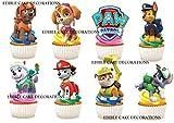 30x Paw Patrol Party Stand Up Essbare Papier Cupcake Topper Kuchen Dekorationen