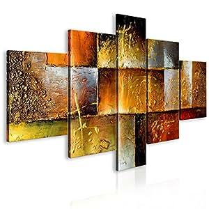 Murando handgemalte bilder auf leinwand abstrakt 160x93 cm 5 teilig 100 unikat gem lde - Handgemalte bilder auf leinwand abstrakt ...