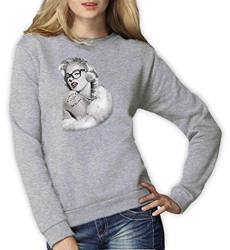 Hipster Marilyn Monroe Frauen Grau XX-Large Sweatshirt