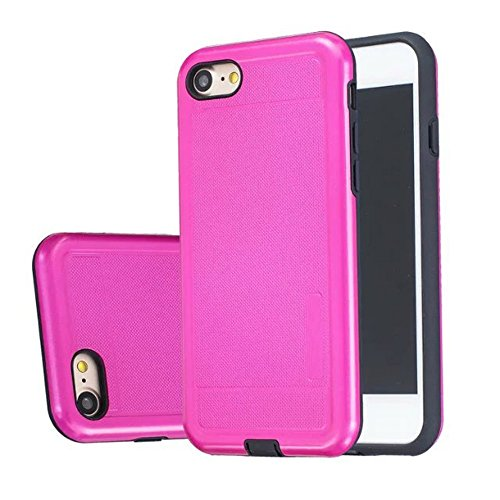 iPhone Case Cover 2 in 1 neue Rüstung Solid Color Dot Muster mattiert Stil Hybrid Dual Layer Rüstung Defender PC Hard zurück Fall Deckung Shockproof Fall Für Apple IPhone 7 4,7 Zoll ( Color : Rose Gol Rose