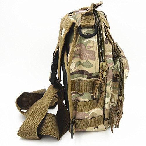 TEKON Outdoor Tactical Rucksack Militär Sport Pack Schulter Rucksack für Camping, Wandern, Trekking, Rover Sling Pack Brust Pack - CP