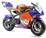 FunBikes MT4A Mini-Motorrad, Racing-Bike, 50cm³, 46cm, in 3Farben erhältlich