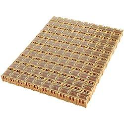 10/20/50PCS Caja electrónica de piezas de componentes parche caja de almacenamiento de laboratorio SMT SMD, amarillo