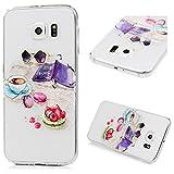 S6 Hülle Transparent, Galaxy S6 Case, Lanveni Gemalt PC Kunststoff Harte Rückseite Handyhülle Lightweight Ultraslim Tasche Schutzhüllen Shell Hülle Abdeckung für Samsung Galaxy S6 Smartphone Freizeit