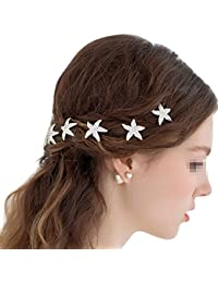 Butterme - 5 pinzas con forma de estrella de mar para peinado de bodas, ZML00000053, 10 piezas
