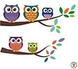 Owl Wall Fabric Decals - High Quality Fa...
