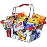 Tanner - Pretend Play Small Scale Filled Shopping Basket - Metal Wired