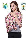 #8: Feather Hug 360 Nursing Cover for Breastfeeding mother, women, Mom, Multi Use, Feeding Cloak,Poncho, scarf, ups, Wrap, Breathable, Canopy, Babysitting, Maternity, Kurti, Shawl, Apron, Poplin (Wal Orange)