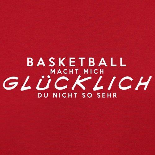 Basketball macht mich glücklich - Unisex Pullover/Sweatshirt - 8 Farben Rot