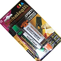 Nuovo adesivo in resina epossidica colla per PVC in metallo plexiglass legno ceramica ecc. 2x 20ml universale Technicqll