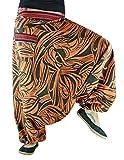 virblatt Haremshose mit Muster und traditionellen Webereien Unisex Einheitsgröße S - L Alternative Kleidung- Fernweh bn