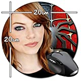 The Amazing Spider-Man Spiderman Emma Stone Tapis de souris rond round ordinateur Tapis de souris