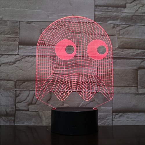 Spiel pac mann lampe tisch 3d schlafzimmer dekorative lampe illusion kind kinder baby kit blinky inky clyde geist pac mann nachtlicht led Pac Lighting Kit