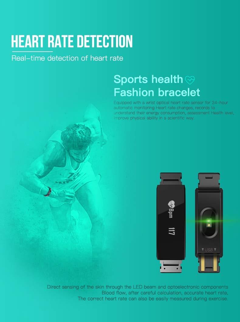 Forme Pulsera de Actividad I Monitor de Actividad Pantalla a Color I Reloj Inteligente I Pulsómetro Presión Sanguínea I… 4
