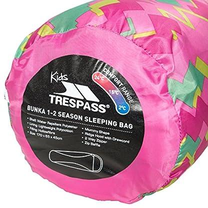 Trespass Unisex Child BUNKA 3 Season Sleeping Bag with Hollow Fibre Filling 5
