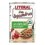 LITORAL Hoy Legumbres Lentejas con su sofrito, Plato Preparado de Legumbres Lentejas Sin Gluten -...