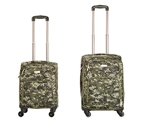 Maleta cabina 50 y 55 cm 4 ruedas trolley de tela camuflaje adecuadas para vuelos de bajo coste art 214