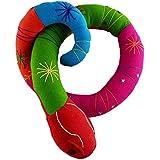 Rangebow Peluche serpiente hecho a mano colorido grande 120cm peluche largo tela de algodón Natural (Rosa verde)