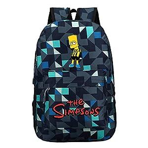 51uIvWmqnWL. SS300  - The Simpsons Casual Mochilas Escolares para Mujeres y Hombres Popular Mochila de Viaje Moda Mochila para Deportes al…