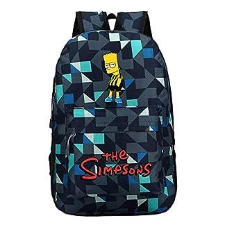 The Simpsons Casual Mochilas Escolares para Mujeres y Hombres Popular Mochila de Viaje Moda Mochila para Deportes al Aire Libre