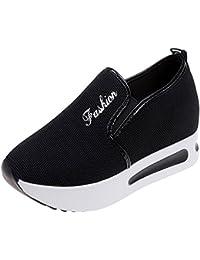 Zapatos de senderismo,Sonnena Aumento de los zapatos de net Zapatos Casuals de mujer Zapatillas de plataforma gruesa y transpirable con plataforma de malla