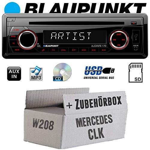 Mercedes CLK W208 - Autoradio Radio Blaupunkt Alicante 170 - CD/MP3/USB - Einbauzubehör - Einbauset