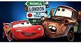 Stickersnews - Stickers chambre d enfant tête de lit CARS réf 8498 Dimensions - 80x40cm...